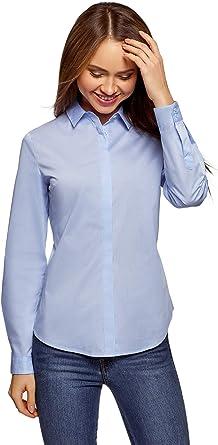 oodji Ultra Mujer Camisa Básica Entallada: Amazon.es: Ropa y accesorios