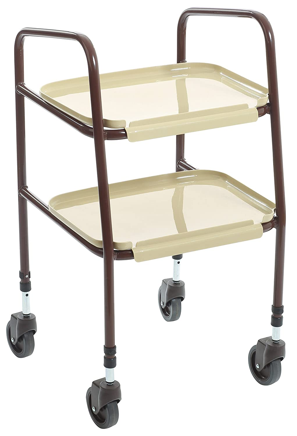 SimplyMed Wheeled Kitchen Trolley Adjustable Height Home Helper ...