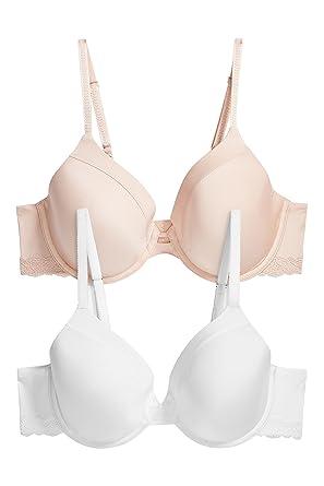 next Mujer Pack De Dos Sujetadores Básicos Holly Copa Grande Nude/Blanco Regular EU 85DD