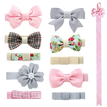 1 Set Hairpin Baby Girl Hair Clip Bow Flower Mini Barrettes Star Kids Inf Al