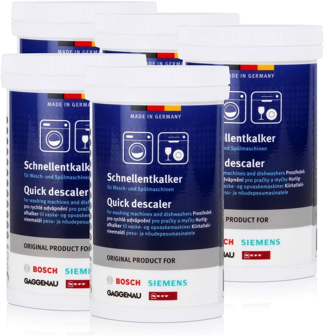 BSH Descalcificador para lavadora y lavavajillas, 5 unidades x 250 ...