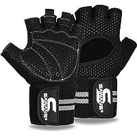Gewichtheffen Handschoenen Gym Workout Fitness Pols Wrap Ondersteuning Mannen Vrouwen Vingerloze Handschoenen Volledige…