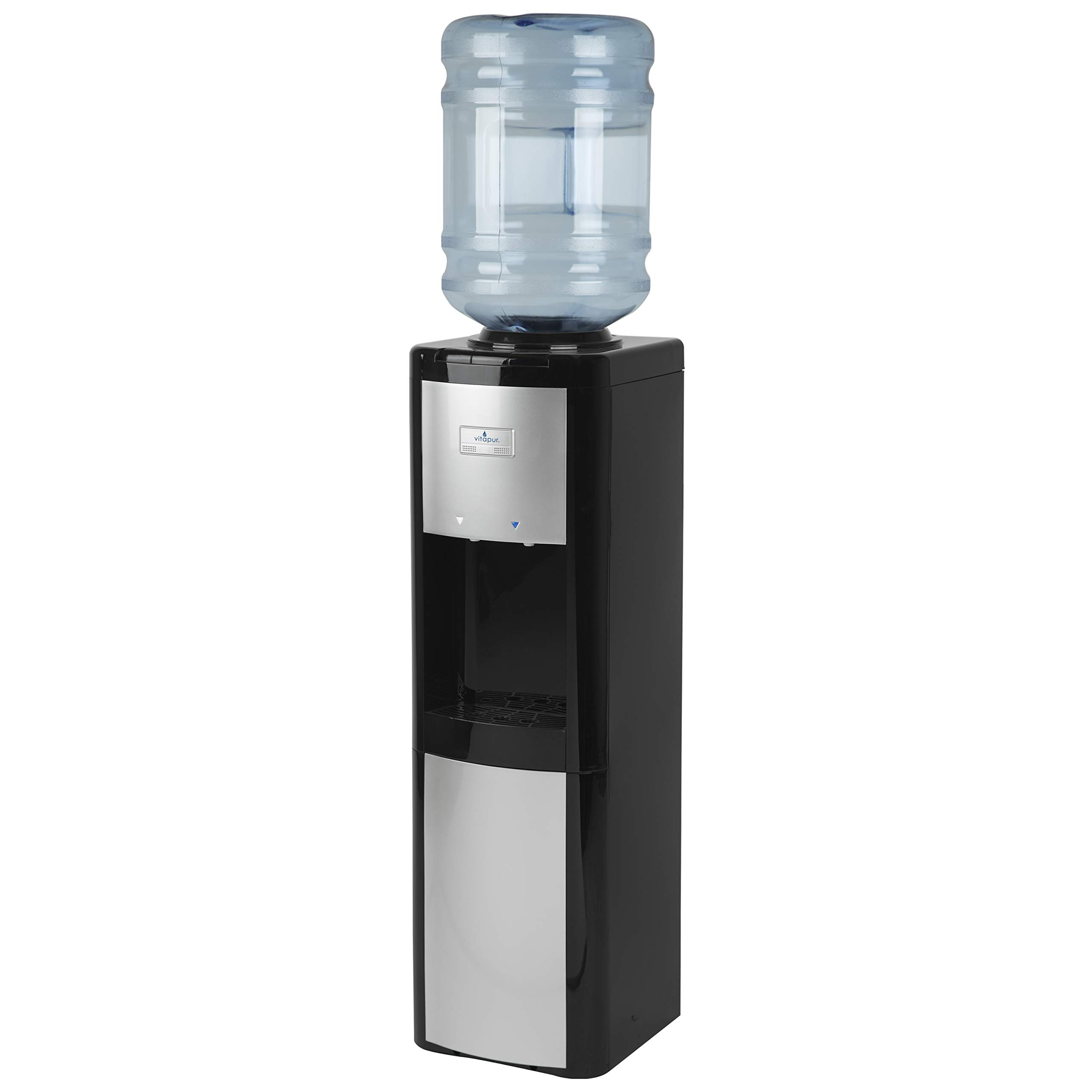 Vitapur VWD266BLP Top Load (Room and Cold) Black/Platinum Water Dispenser, one size,