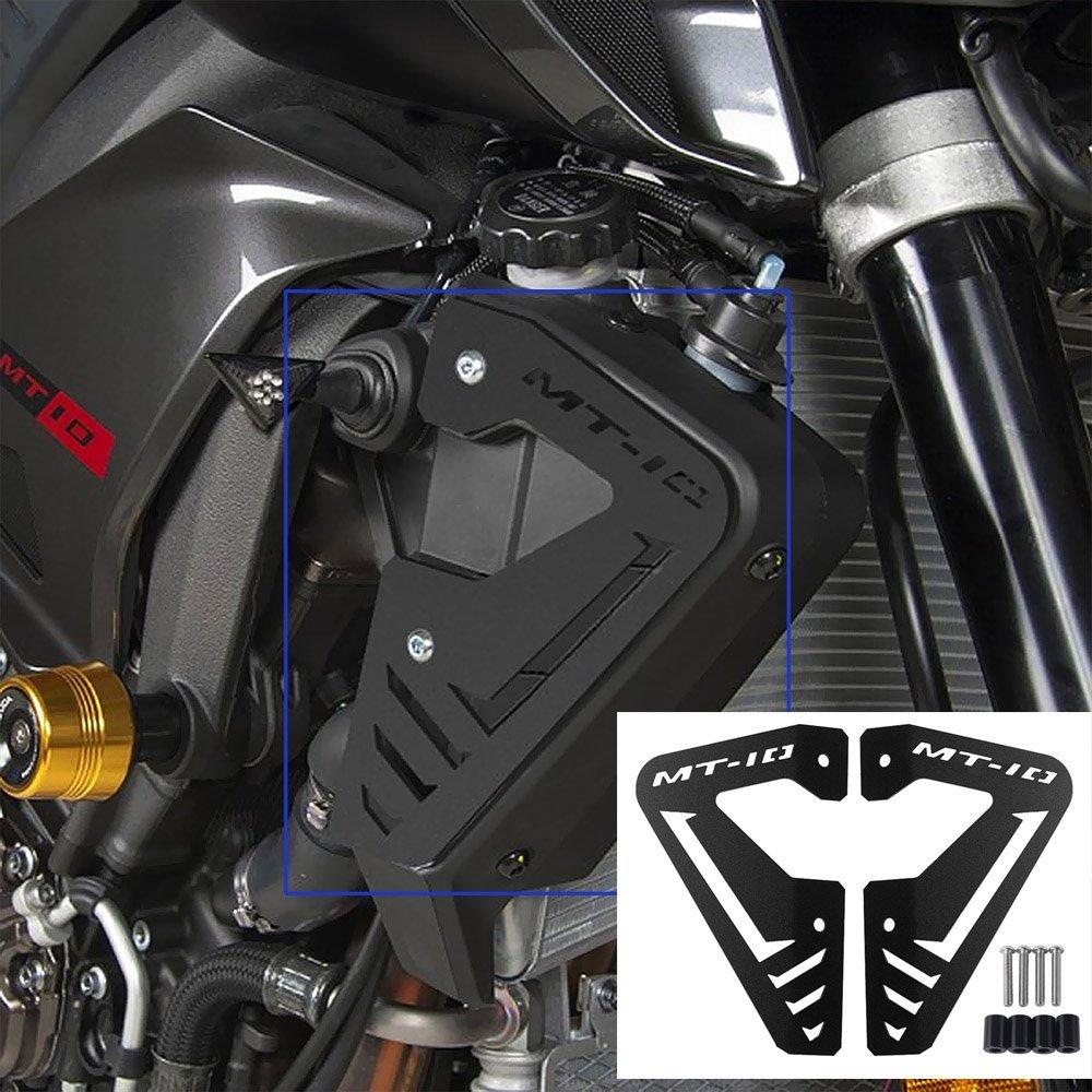 xx eCommerce motocicletta radiatore in alluminio Piastra laterale pannello di guardia Protector Fit for 2015 –  2016 Yamaha MT FZ 10 MT10 FZ10 15 –  16, nero