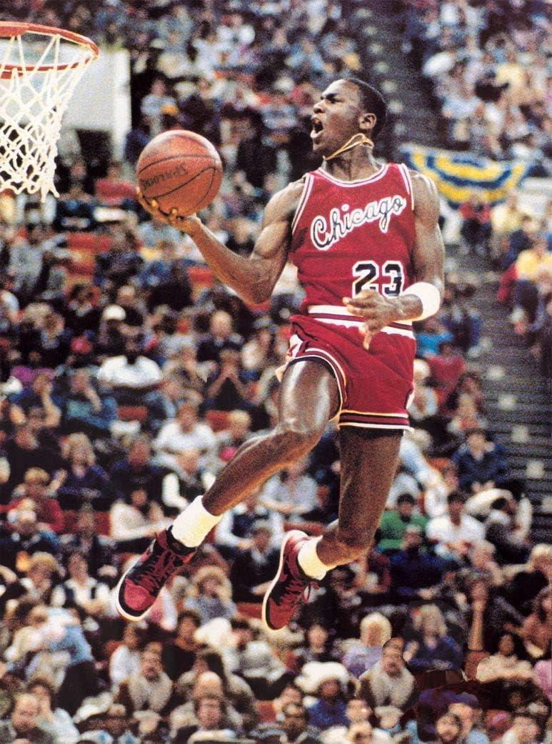 Michael Jordan Classic Reverse Slam Dunk Poster
