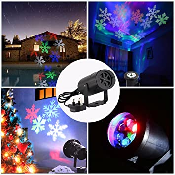 ParaCity Christmas Snowflake Spotlight LED Landscape Projector ...