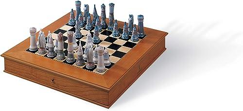 LLADR Medieval Chess Set Chess Set. Porcelain Chess.