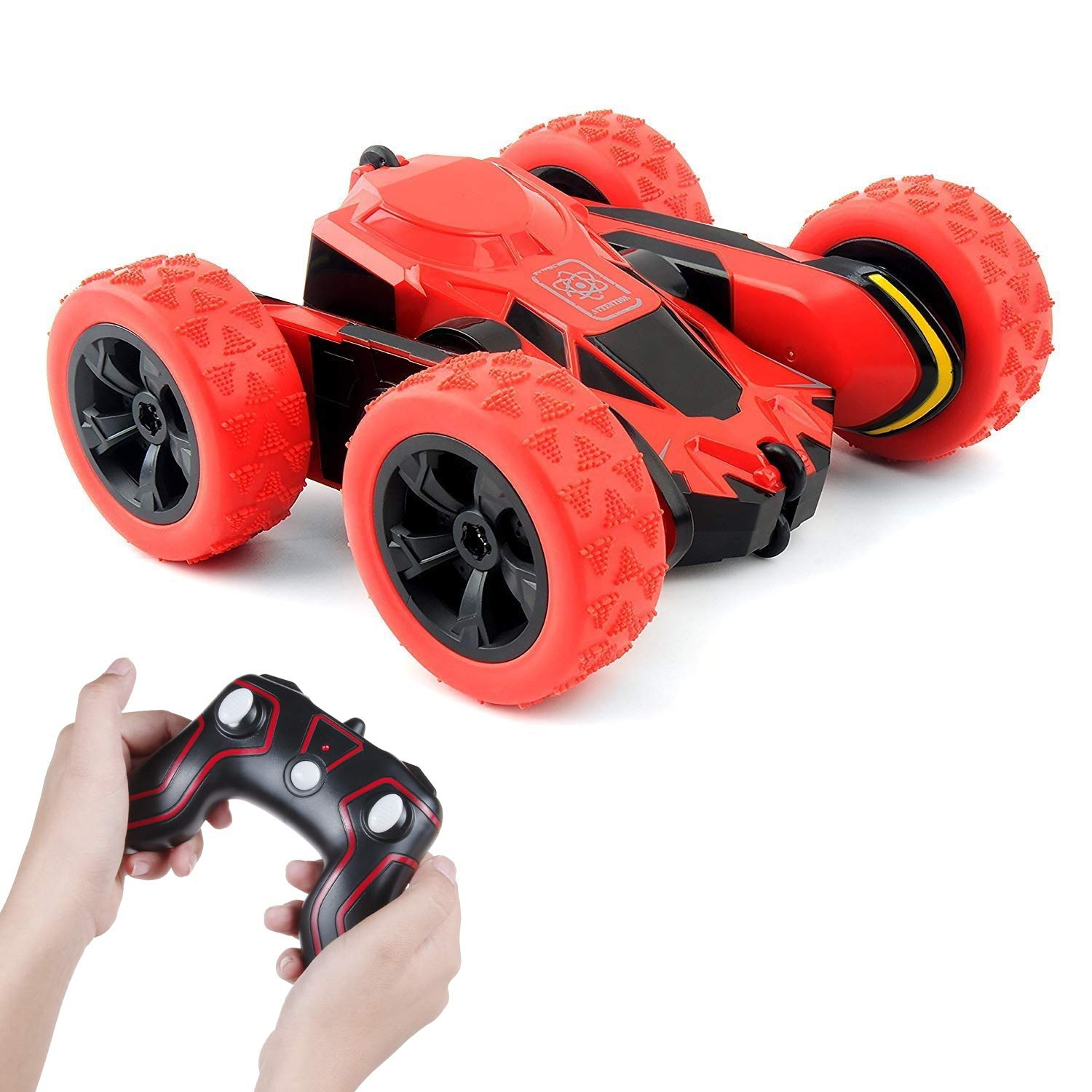 Beyond Remote Control Car RC Cars 1/28 2.4Ghz 360 Degree Rotating Scale RC Stunt Car Toy Vehicles for Kids Child