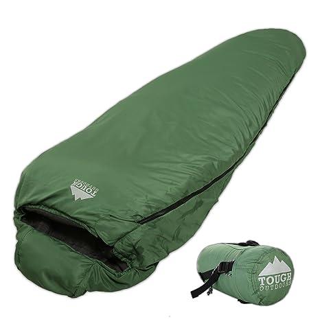 Amazon.com : 50°F Mummy Sleeping Bag - Lightweight, Compact Mummy ...