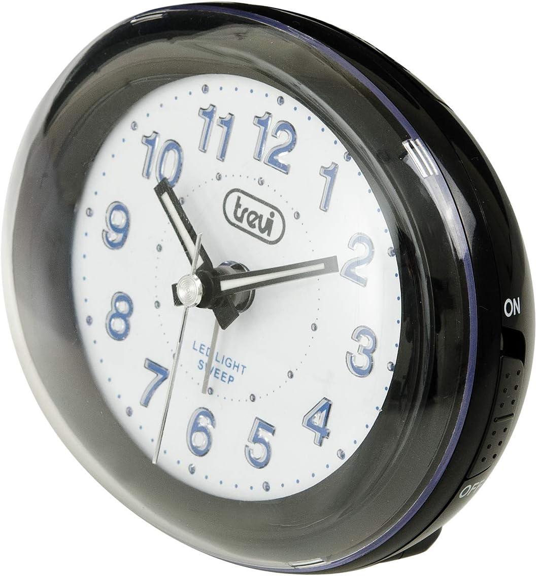 Trevi SL 3052 Reloj despertador, plástico, Negro, Color blanco
