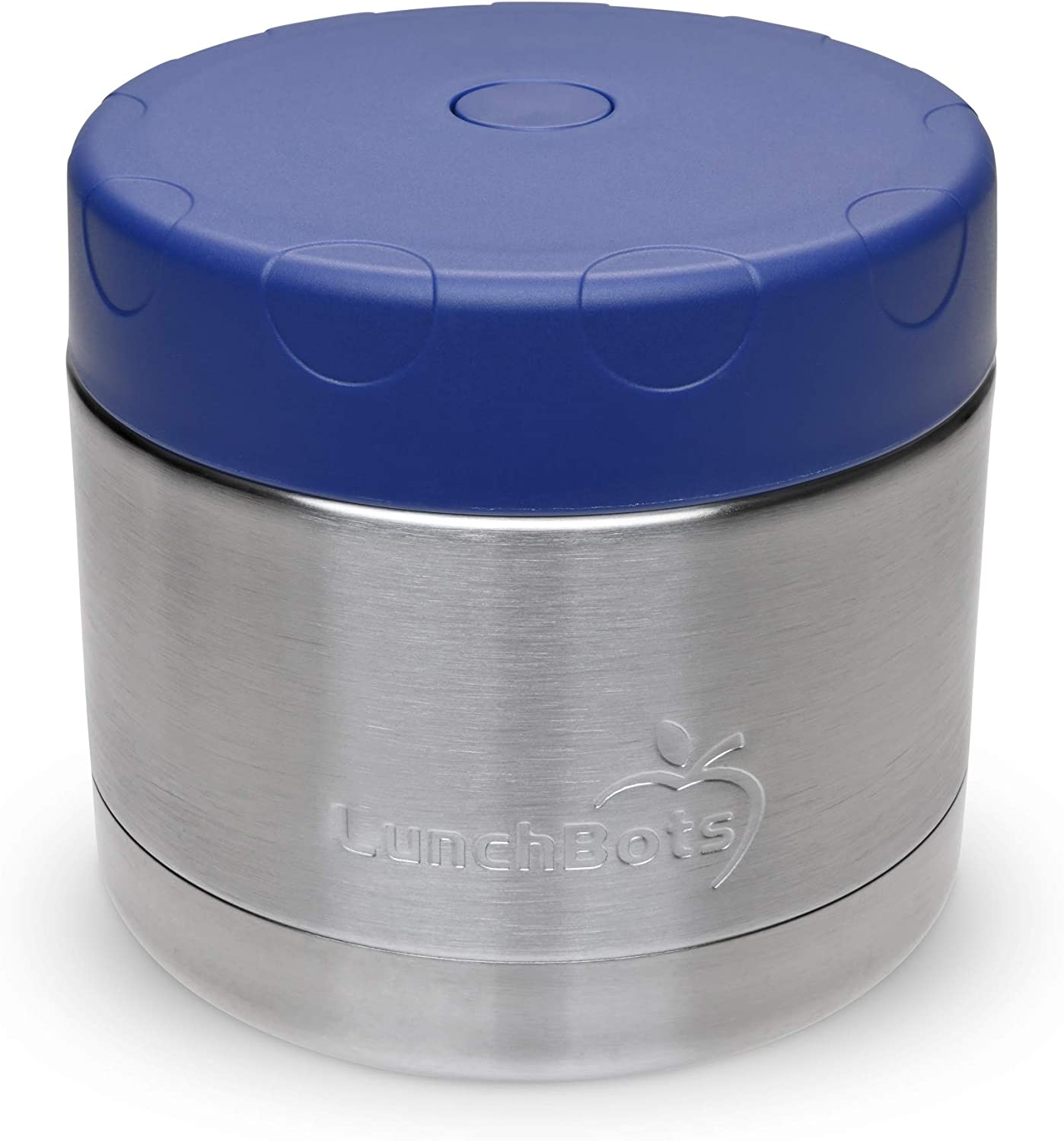 LunchBots 12oz Thermos Stainless Steel Wide Mouth - Insulated Container With Vented Lid - Keeps Food Hot or Cold for Hours - Leak-Proof Portable Thermal Food Jar is Ideal for Soup - 12 ounce - Navy