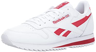 b133a217c ... Reebok Lifestyle Men s Classic Leather Ripple Low BP White Excellent Red  3.5 .