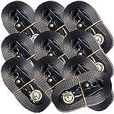 Correas de amarre con trinquete, capacidad de 800 kg, 4 m, 10 unidades, color negro, cumplen con normativa EN12195-2