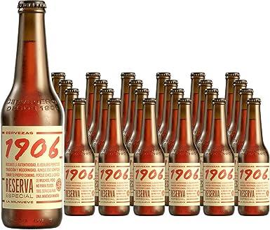 1906 Reserva Especial Cerveza - Pack de 24 botellas x 33 cl ...