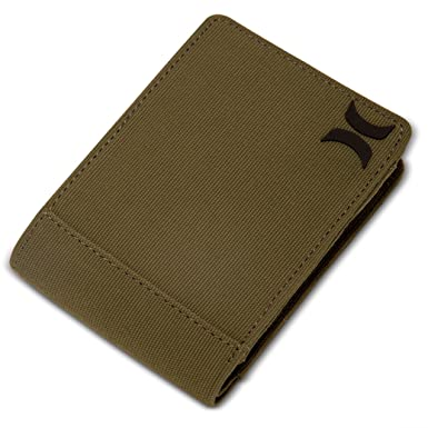 Hurley HU0025 Mens Collide Wallet, Olive Canvas - OS