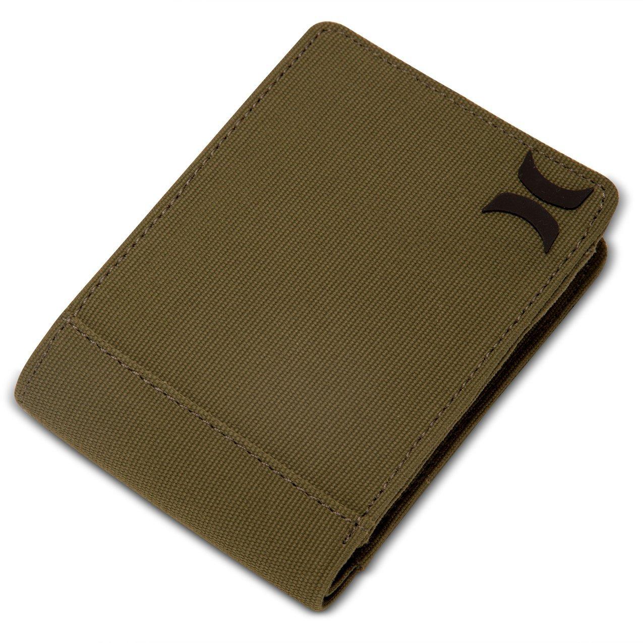 Hurley HU0025 Men's Collide Wallet, Olive Canvas - OS