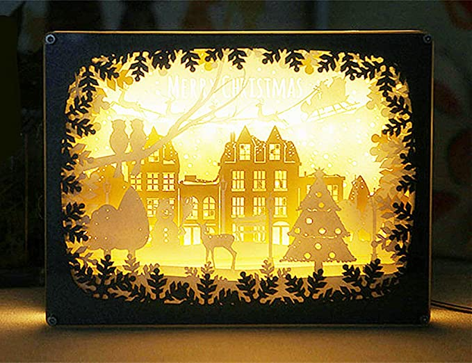 juelk papercut light boxes creative art lamp room decorations merry christmas