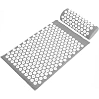 BalanceFrom BalanceFrom BFAM-01GY Goaccu Acupressure Mat & Pillow Set BFAM-01GY, Gray
