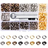 Metal Grommets Kit 3/16 inch Meikeer 400Pcs Metal Eyelets Kits Shoe Eyelets Grommet Sets for Shoes Clothes Crafts Bag…
