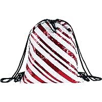 Deeplive Fashion Mermaid Drawstring Bag Magic Reversible Sequin Backpack Glittering Dance Bag,School Bag,Outdoor Sports for Girls Women kids
