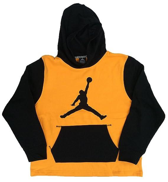 7a240625b954 Jordan Big Boys  (8-20) Nike Jumpman Pullover Hoodie Light Gold Medium