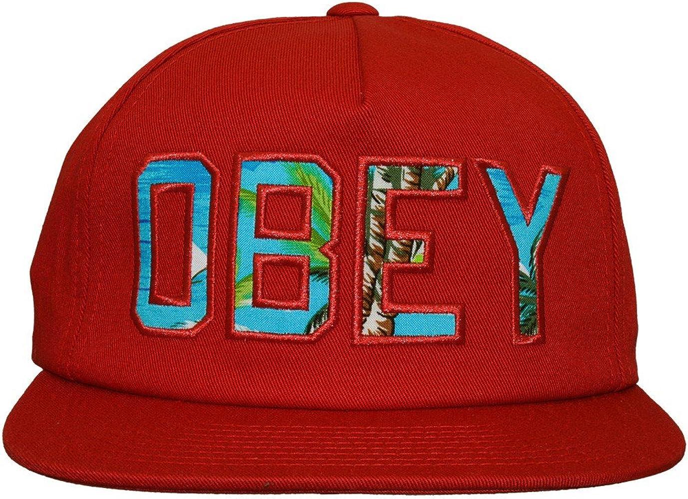 Obey – Gorra Abierta (Strapback) Hombre – Rojo Oscuro: Amazon.es ...