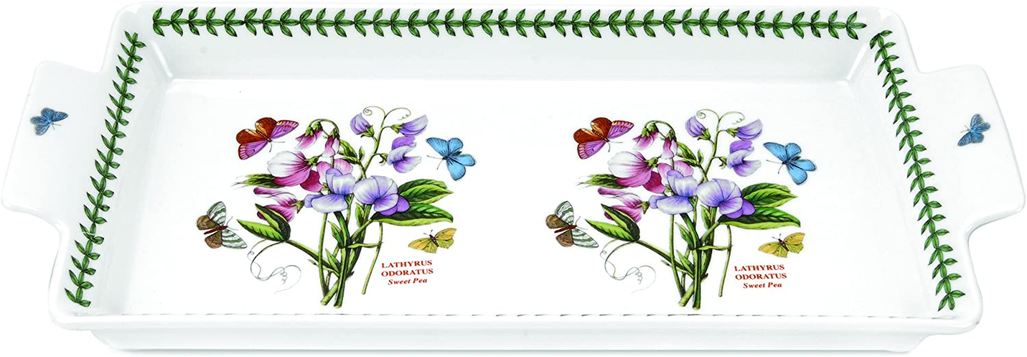 Portmeirion Botanic Garden Sandwich Tray with Handles