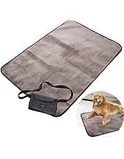 UEETEK Decke für Haustier,Wasserdichte und Plüsch Hundedecke Matte mit Tragbar Tragetasche für Hund Welpen Katze Innen Draussen Anwendungen,100 * 70 CM(L * W)