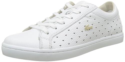 Lacoste Straightset 117 3 Caw Wht, Bajos para Mujer, Blanco, 41 EU: Amazon.es: Zapatos y complementos