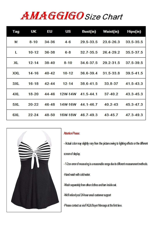 FBA Amenxi Ladies Polka Bikini Dress Plus Size Swimwear Retro Beachwear Halterneck Swimsuit with Boyshort
