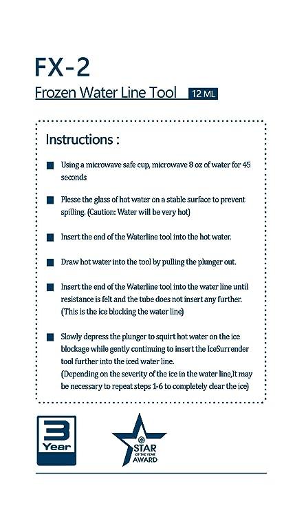 Water Line Professor - Frozen Water Line Tool - Quickly and Easily Unfreeze  Your Refrigerator Water Dispenser (24 in)