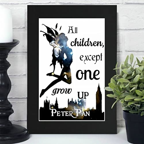 Peter Pan Print All Children Except One Grow Up Literary
