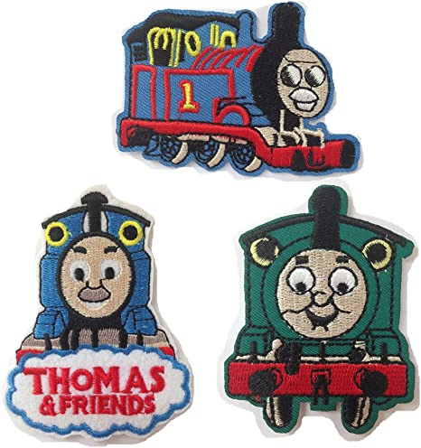 Embroidered Applique cartoon 1x Thomas the Train PATCH custom your kid clothes