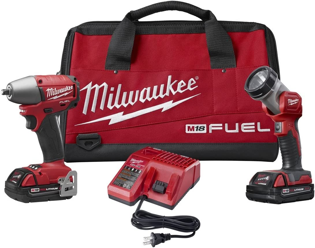 Milwaukee 2795-22CT M18 Fuel 3 8 Inch Impact Wrench Combo Kit
