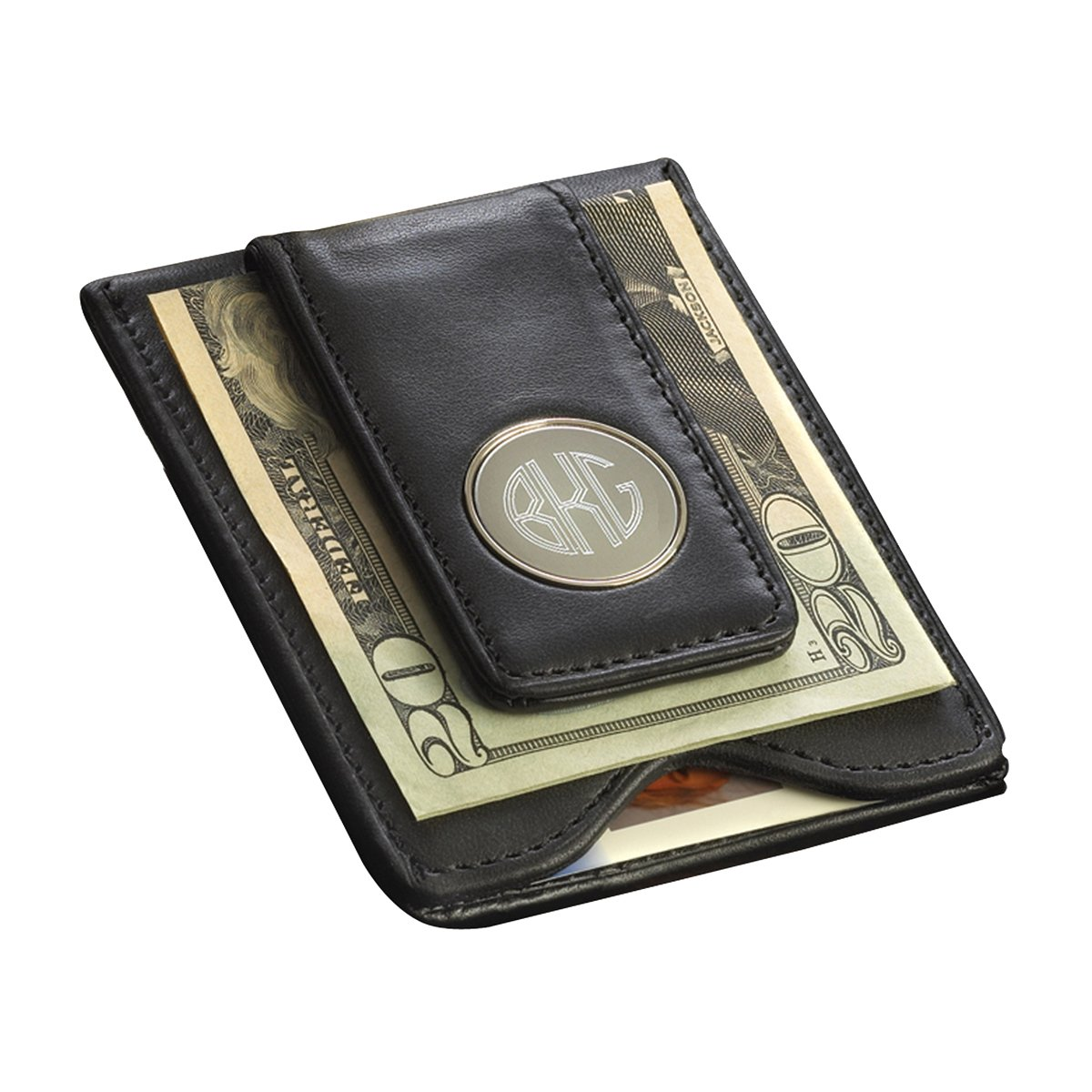 Personalized Leather Wallet - Leather Money Clip JDS GC1041