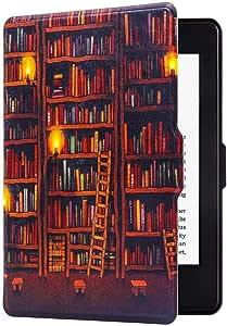 GOGUDIZ Slim Case for Kindle Paperwhite(10th Generation-2018), Smart Shell Cover with Auto Sleep Wake Feature for Kindle Paperwhite 10th Gen 2018 Released(Bookshelf)