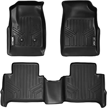 Amazon Com Maxliner Floor Mats 2 Row Liner Set Black For 2015