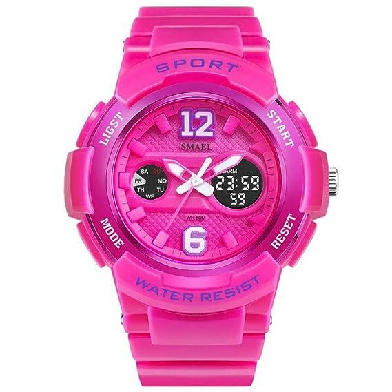 Daesar Reloj Mujer Reloj Deportivo Relojes Electronicos Reloj Mujer Quartz Reloj Deportivo Reloj Multifunción Rosa: Amazon.es: Relojes