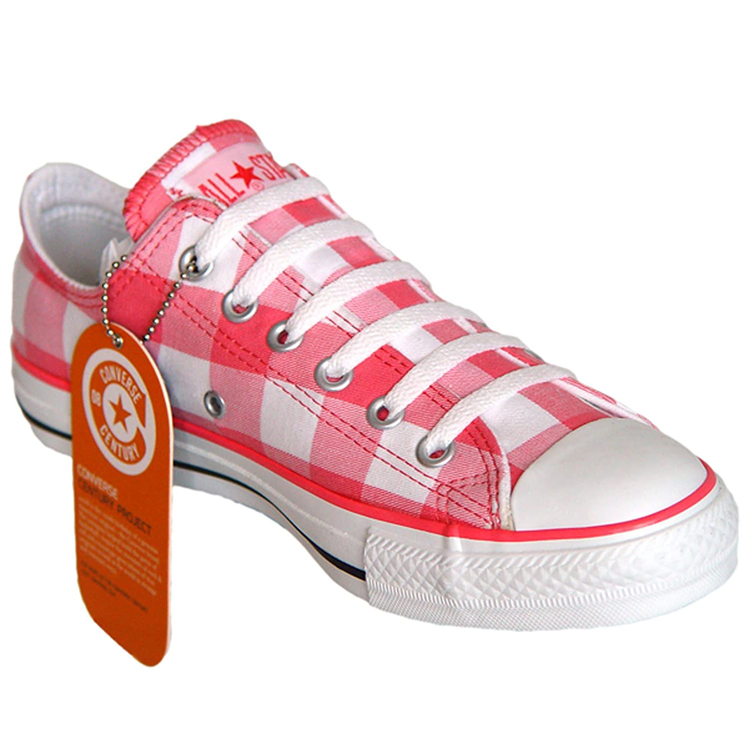 bda7334abdaa04 Converse All Star Chucks Weiß Rosa OX Kariert Limited Edition Größe  36 UK   3