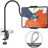 Klsniur Gooseneck Tablet Holder, Universal Tablet Stand 360 Flexible Lazy Bracket Clamp Long Arms Mount Compatible with…
