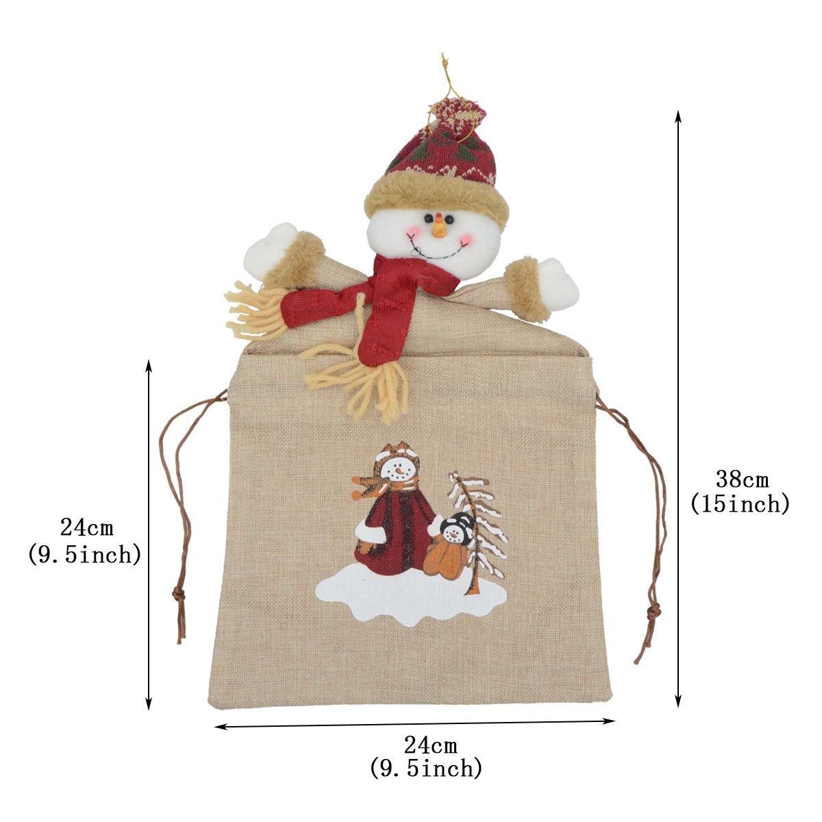 Saim Christmas Bag Cute Christmas Snowman Gift Bag Small