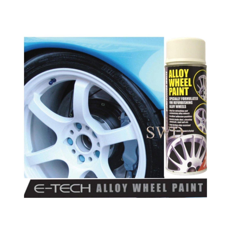 Auto Inpart Competencia blanco E-TECH - Pintura para llantas de aleación Chip resistente rueda plateado metálico: Amazon.es: Coche y moto
