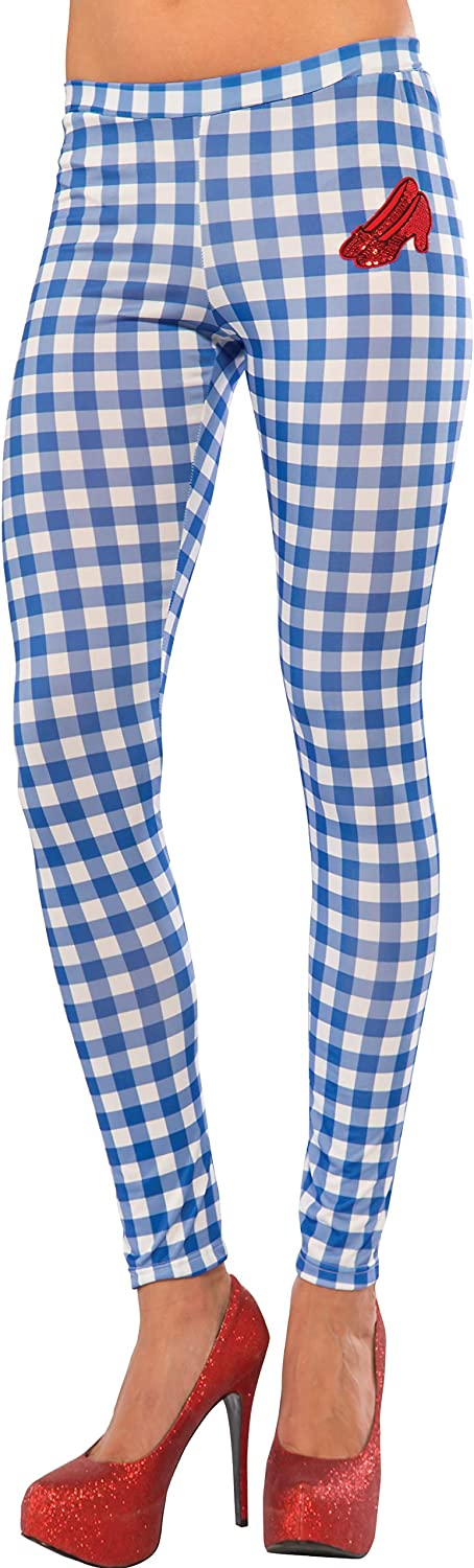 Rubie's Women's Wizard Of Oz Dorothy Leggings, Gingham, One Size: Clothing