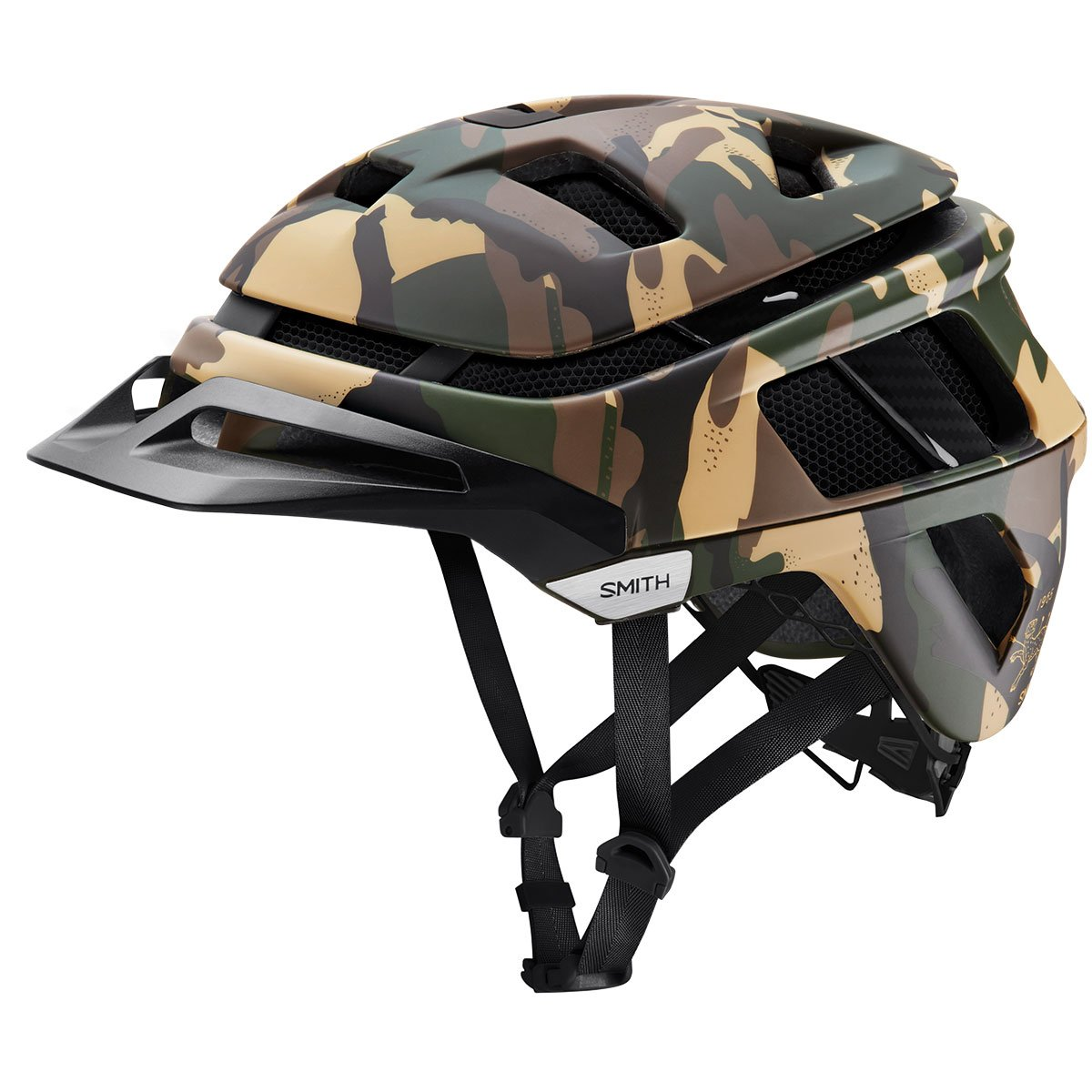 Smith Optics Forefront Adult MTB Cycling Helmet - Matte Disruption Camo/Small