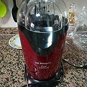 Orbegozo CEEPE1AO PALOMITERO PORTÁTIL, 1200 W, Rojo metalizado y negro