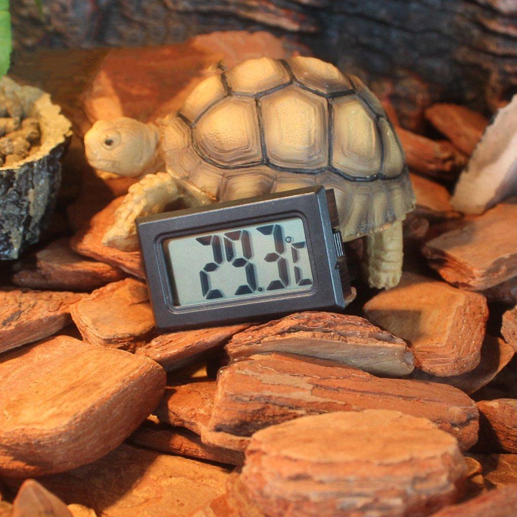 SGerste Wireless Reptile Thermometer Lizard Beared Dragon Temperature Meter Gauge Amphibians Tester
