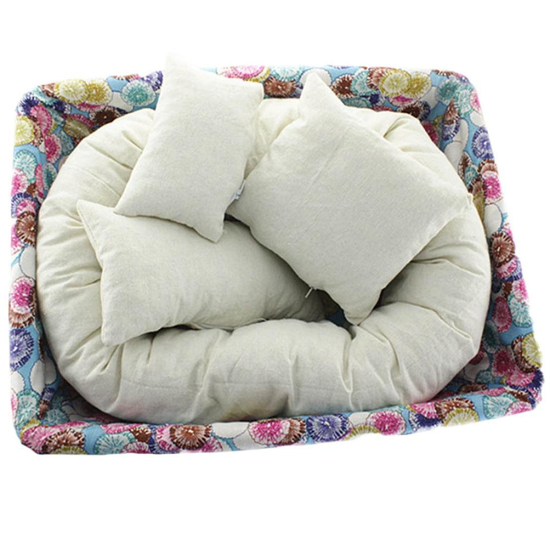 Baby Pillow - Kingwo child pillow 0-6 months baby Pillow toddler pillow 4 PC Newborn Photography Basket Filler Wheat Donut Posing Props Baby Pillow Echobaby
