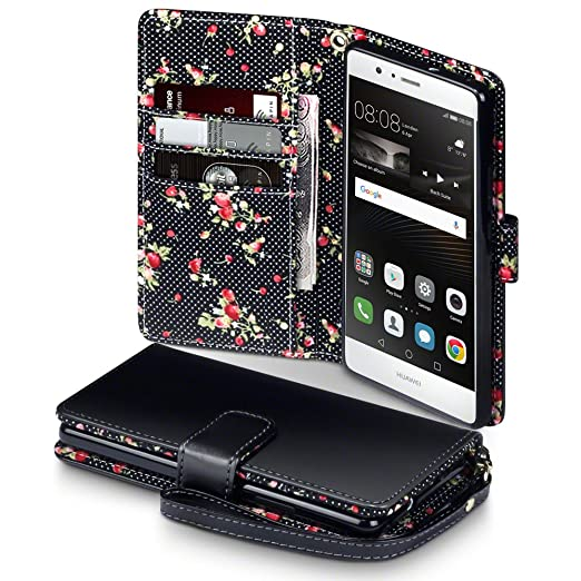 34 opinioni per Huawei P9 Lite Case, Terrapin Premium di cuoio del raccoglitore per Huawei P9