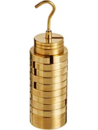 United Scientific WHST13 Brass Slotted Weight Set with Hanger and Case, 13 Weights