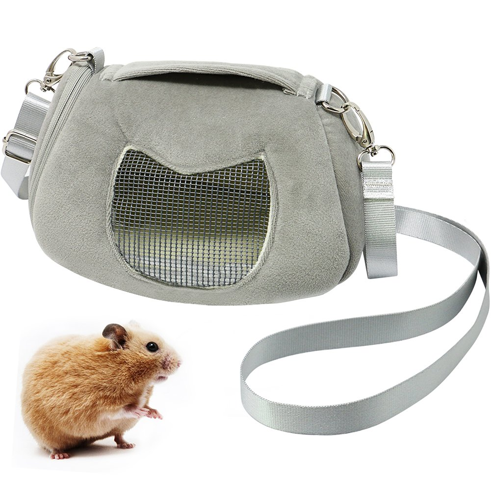 B Bascolor Pet Carrier Bag Portable Breathable Outgoing Travel Handbag with Adjustable Single Shoulder Strap Pouch for Hamster Small Animals Pets